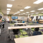 Movable Tables and Stackable Chairs at School in Idaho