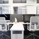 Office Workstations with Partitions and Storage for Business in Boise, Idaho