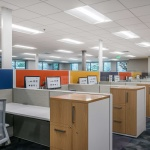 Fun, Colorful Workstations at Lamb Weston's Office in Idaho
