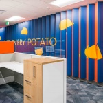 Fun, Colorful Cubicles at Lamb Weston's Office in Idaho