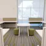 Group of Four Workstations for Commercial Office