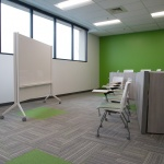Collaborative Area Lounge Furniture with Whiteboard at Technology Company in Boise, ID
