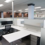 Workstations in Open Office Area at Company in Boise