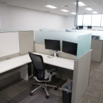 Workstation in Open Office Area at Company in Boise