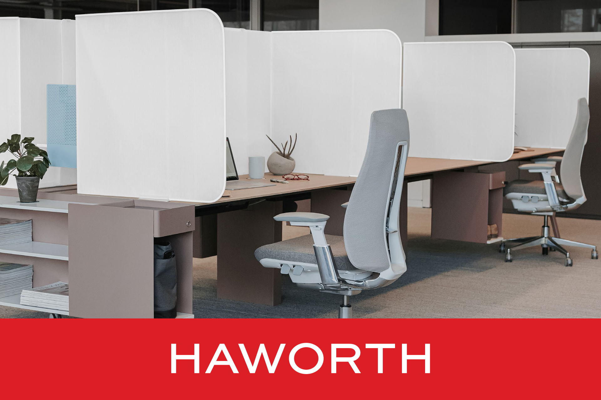 Haworth Lightweight Desktop Separation Screen Products For Physical Distancing