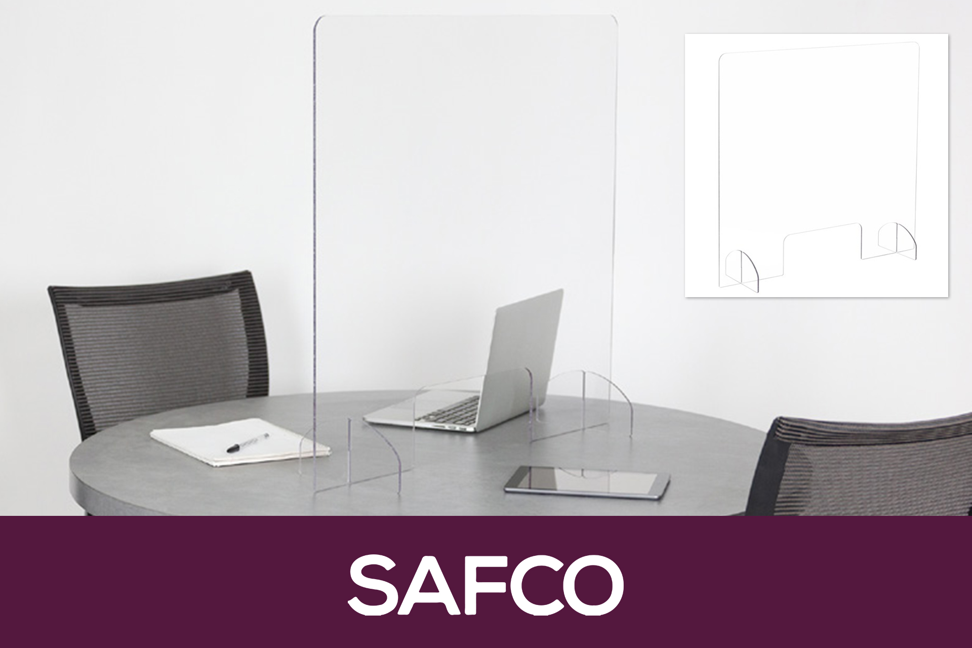 SAFCO Freestanding Sneeze Guard Products For Physical Distancing