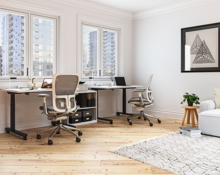Haworth Work From Home Furniture Set Up