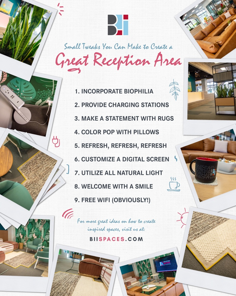 Small Tweaks To Transform Your Reception Area - BII: Creating Inspired Spaces