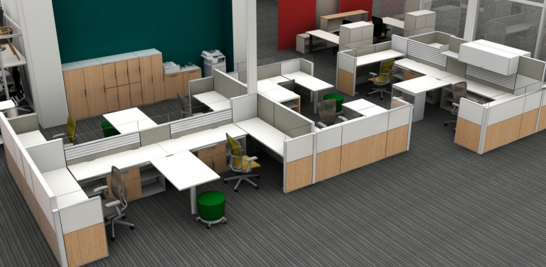 Our Old Group of Haworth Compose Workstations