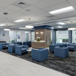 Healthcare Reception Area Furniture for Insurance Company in Idaho