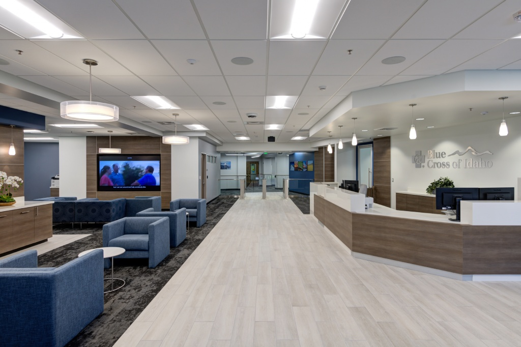 Office Furniture for Reception Area in Insurance Company in Boise