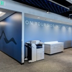 Collaboration Area Office Furniture for Insurance Company in Boise