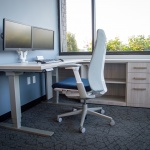 Height Adjustable Desk for Private Office in Insurance Company in Boise