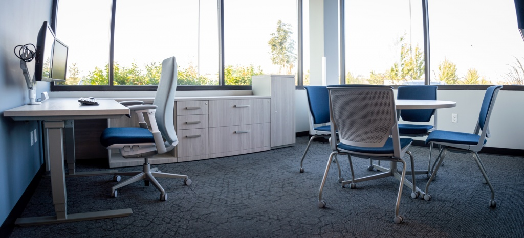 Commercial Private Office Furniture for Insurance Company in Idaho