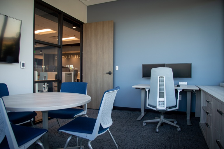 Table and Chairs for Private Office in Insurance Company in Boise