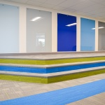 Colorful Glass Markerboards at Charter School in Meridian, Idaho
