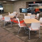 Table and Chairs for Café in University Building in Boise