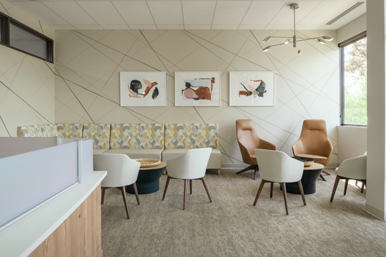 Commercial Lobby Area Furniture for Dental Office in Idaho