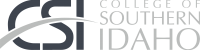 College Of Southern Idaho (CSI) Logo Grayscale
