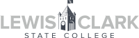 Lewis Clark State College Logo Grayscale