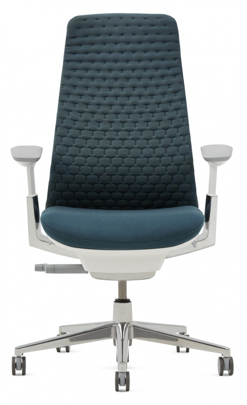 Image Of Fern Task Chair With A Digital Knit Back.